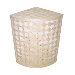 Corner laundry basket
