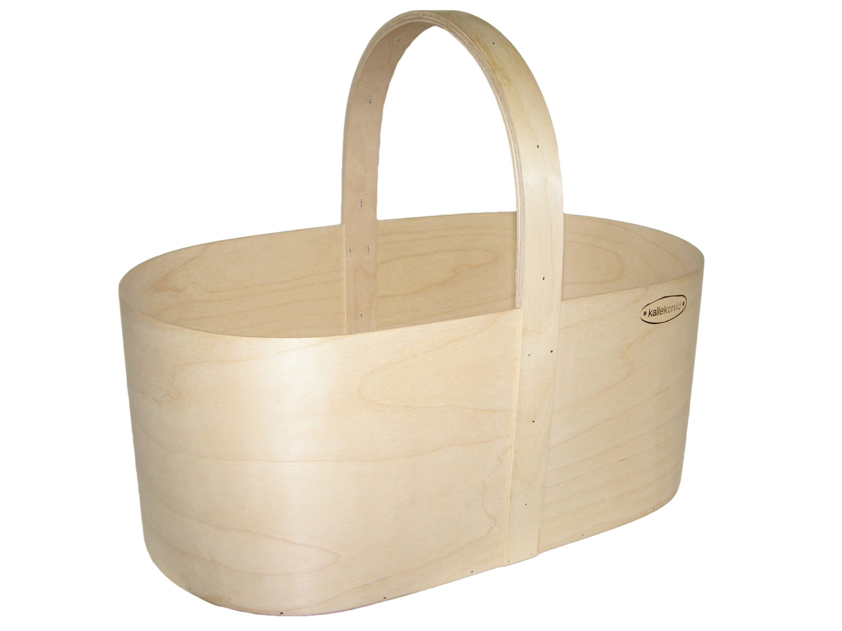 Plywood basket oval L
