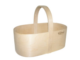 Plywood basket oval M
