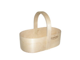 Plywood basket oval S