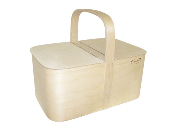 Plywood picnic basket