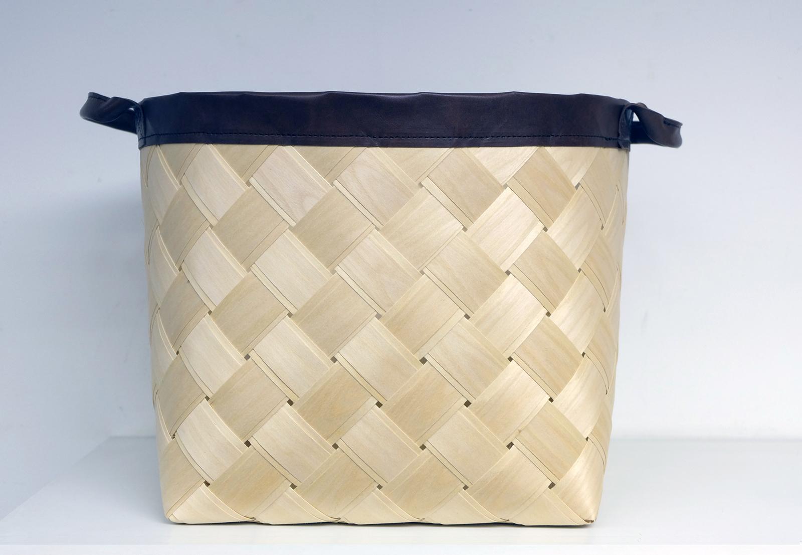 wooden storage basket