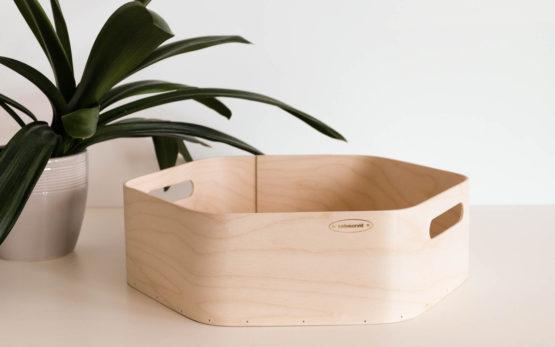 Plywood tray hexagonal