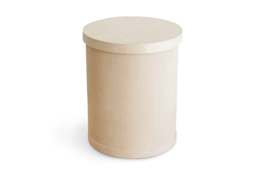 Plywood barrel with lid