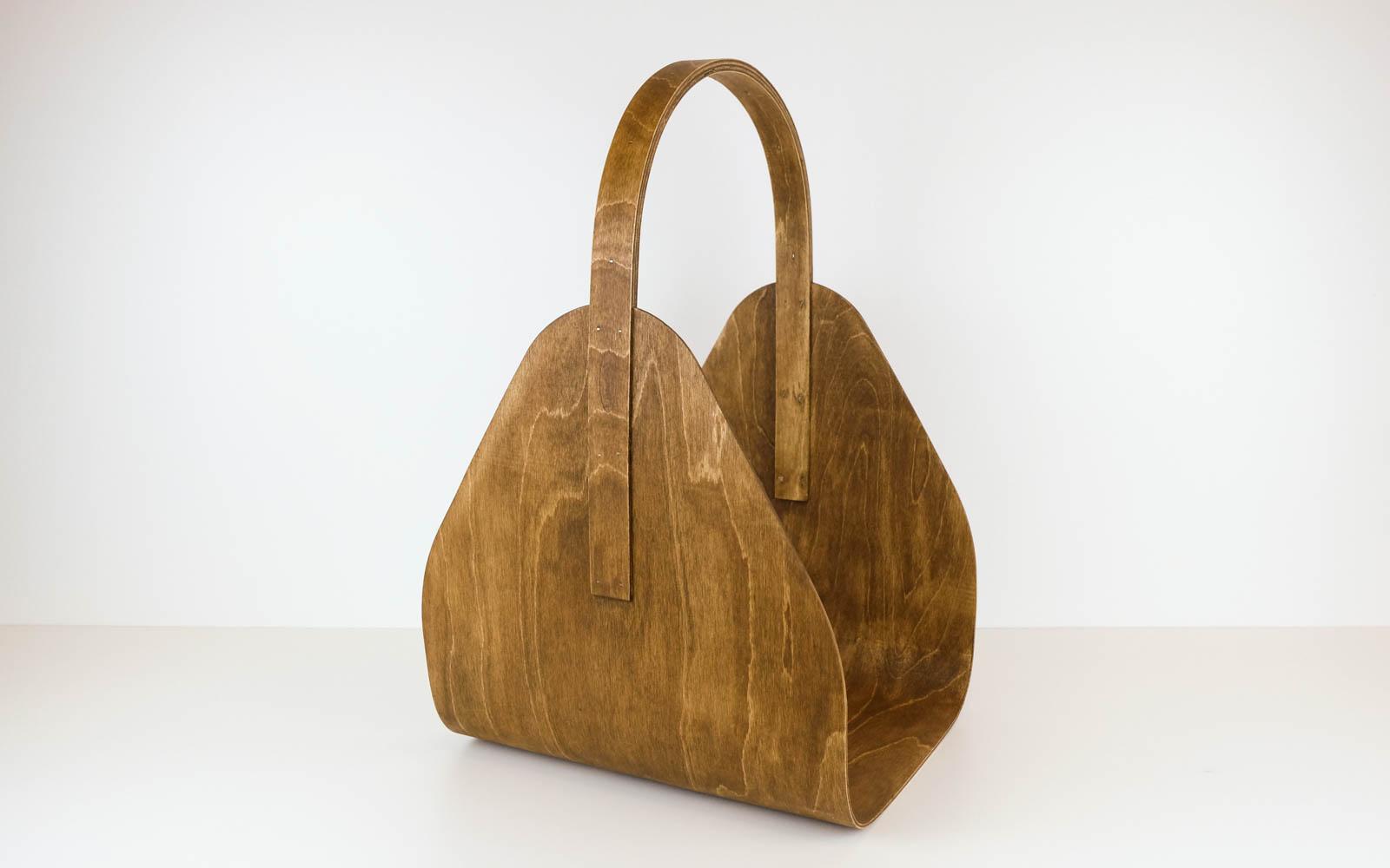 log basket, wood basket