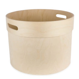 Plywood barrel with handles